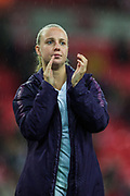 Beth Mead (England) thanking the supporters following the International Friendly match between England Women and Germany Women at Wembley Stadium, London, England on 9 November 2019.