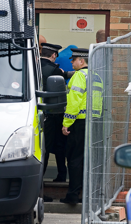 © under license to London News Pictures.  28/03/2011. Taxi driver Christopher Halliwell arriving at Swindon magistrates court today (Mon). Halliwell has been charged with the murder of 22 year-old Sian O'Callaghan whose body was found in Uffington last week . Photo credit should read: LNP