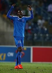 Evans Rusike of Maritzburg Utd during the 2016 Premier Soccer League match between Maritzburg Utd and SuperSport United held at the Harry Gwala Stadium in Pietermaritzburg, South Africa on the 21st September 2016<br /> <br /> Photo by:   Steve Haag / Real Time Images