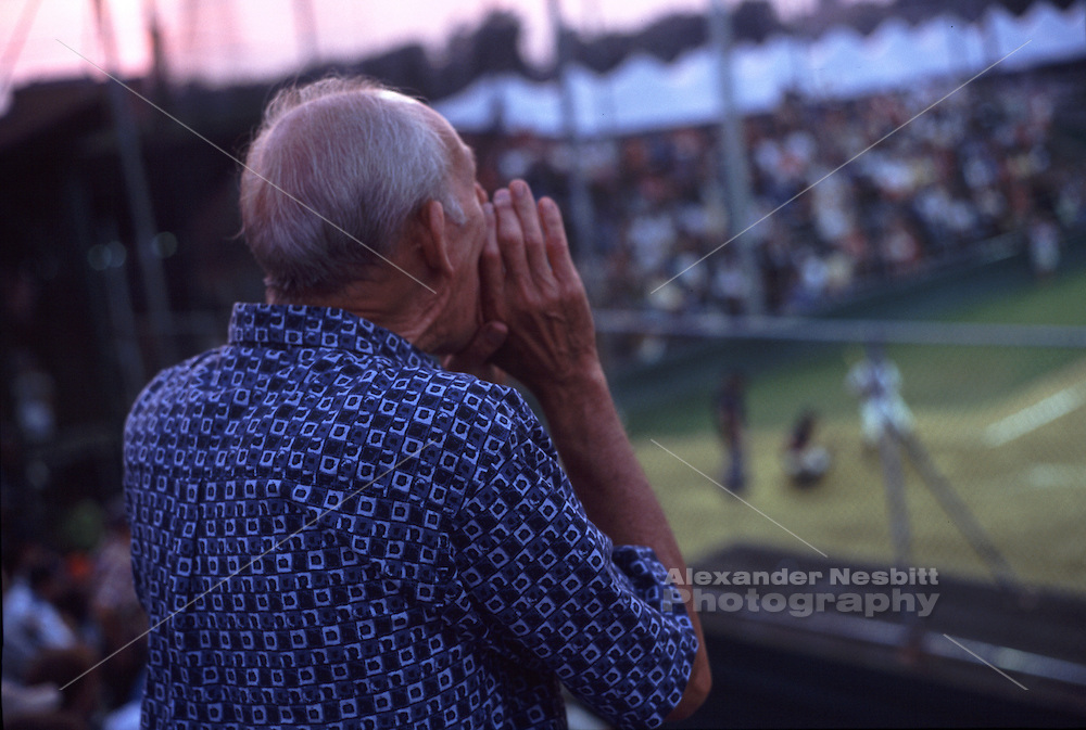 USA, Newport, RI. - Cardines baseball field is one of the oldest ball fields in  America.  The small intimate stands allow fans to yell right to the field.