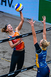 Katja Stam in action during the first day of the beach volleyball event King of the Court at Jaarbeursplein on September 9, 2020 in Utrecht.