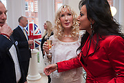 BASIA BRIGGS; NANCY DELL D'OLIO;, Party given by Basia Briggs and Richard Briggs at their home in Chelsea. London. 14 May 2012