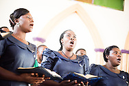 New deaconesses commissioned in a service sing on Sunday, March 15, 2015, at the Evangelical Lutheran Church in Tanzania – South-East of Lake Victoria Diocese's (ELCT-SELVD) Ebenezer Cathedral in Shinyanga, Tanzania. LCMS Communications/Erik M. Lunsford