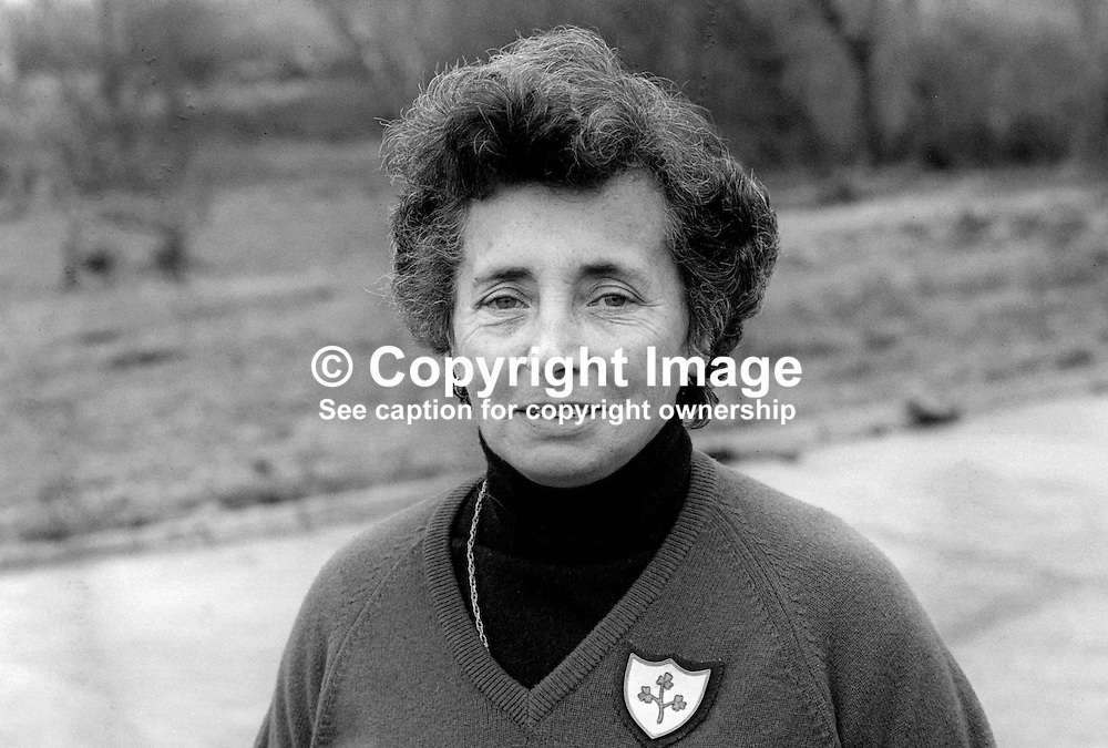 Maire O'Donnell, Mountcharles, Co Donegal, Rep of Ireland, captain of the British & Irish Curtis Cup team. 198201006MOD.<br /> <br /> Copyright Image from Victor Patterson, Belfast, UK<br /> <br /> t: +44 28 9066 1296 (from Rep of Ireland 048 9066 1296)<br /> m: +44 7802 353836<br /> e: victorpattersonbelfast@gmail.com<br /> <br /> www.images4media.com<br /> <br /> Please see my full Terms and Conditions of Use at https://www.images4media.com/p/terms-conditions - it is IMPORTANT that you familiarise yourself with them.<br /> <br /> Images used online incur an additional cost. This cost should be agreed in writing in advance. Online images must be visibly watermarked i.e. © Victor Patterson or that of the named photographer within the body of the image. The original metadata must not be deleted from images used online.<br /> <br /> This image is only available for the use of the download recipient i.e. television station, newspaper, magazine, book publisher, etc, and must not be passed on to a third party. It is also downloaded on condition that each and every usage is notified within 7 days to victorpattersonbelfast@gmail.com.<br /> <br /> The right of Victor Patterson (or the named photographer) to be identified as the author is asserted in accordance with The Copyright Designs And Patents Act (1988). All moral rights are asserted.