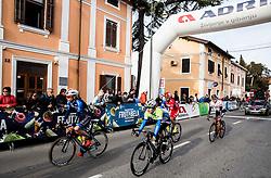 MOLTENI Marco (ITA) of Unieuro Trevigiani - Hemus 1896, LAVRIČ Martin (SLO) of Slovenian National Team during the UCI Class 1.2 professional race 4th Grand Prix Izola, on February 26, 2017 in Izola / Isola, Slovenia. Photo by Vid Ponikvar / Sportida