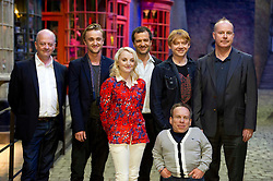 © Licensed to London News Pictures 29/03/2012 London, UK. .David Barron, (producer) Tom Felton, Evanna Lynch, David Heyman, (producer) Rupert Grint, David Yates (director) and Warwick Davies at The Warner Brothers Studio Tour, 'The Making of Harry Potter' Leavesden, Herts where all 8 Harry Potter movies were made. The behind the scenes walking tour opens to the public this week..Photo credit : Simon Jacobs/LNP