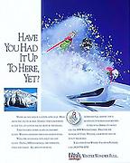 Magazine ad for Ski Utah to promote the Utah ski industry