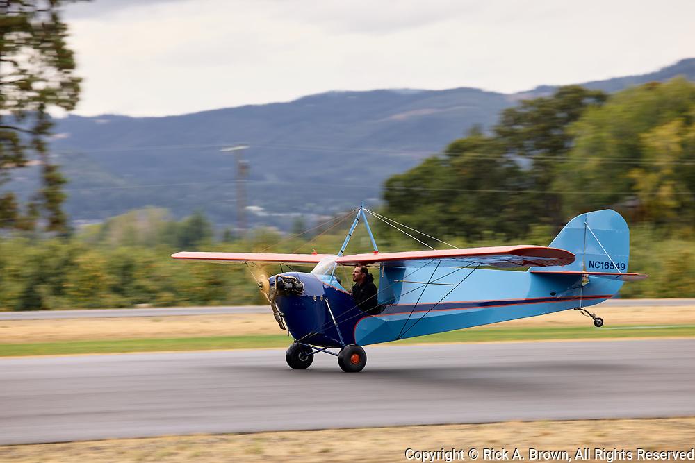 Aeronca C-3 at Ken Jernstedt Airfield.