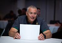 Football - 2019 / 2020 Gallagher Premiership Rugby - New Season Launch Media Photocall<br /> <br /> Northampton Saints' head coach Chris Boyd fields questions during an open media session, at Twickenham.<br /> <br /> COLORSPORT/ASHLEY WESTERN