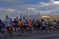 HAVANA, Nov. 20, 2017  Competitors participate in the International Marathon of Havana, Marabana 2017, in Havana, Cuba, on Nov. 19, 2017. More than 5,000 runners participated in this year's Marabana. (Credit Image: © Joaquin Hernandez/Xinhua via ZUMA Wire)