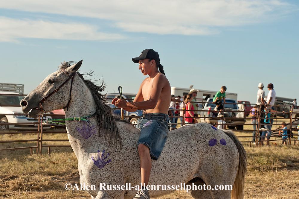 Fort Belknap Indian Reservation, Milk River Memorial Horse Races, Painted Horse Relay, Nolan Werk, winner, finish