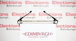Scottish Parliament Election 2016 Royal Highland Centre Ingliston Edinburgh 05 May 2016; the stage awaits the candidates during the Scottish Parliament Election 2016, Royal Highland Centre, Ingliston Edinburgh.<br /> <br /> (c) Chris McCluskie | Edinburgh Elite media