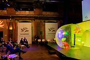 HAARLEM, 08-10-2020, Lichtfabriek in Haarlem<br /> <br /> Koning Willem Alexander tijdens de viering van het 80-jarig bestaan van het Prins Bernhard Cultuurfonds in de Lichtfabriek in Haarlem.