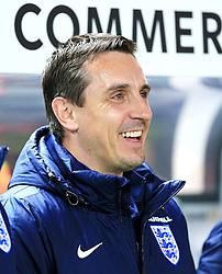 England coach Gary Neville smiles - Mandatory by-line: Matt McNulty/JMP - 26/03/2016 - FOOTBALL - Olympiastadion - Berlin, Germany - Germany v England - International Friendly