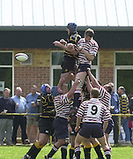 04/05/2002.Sport - Rugby Union.Tetley's County Championship 1 st Rd.Surrey vs Cornwall.The line out contest....[Mandatory Credit, Peter Spurier/ Intersport Images].[Mandatory Credit, Peter Spurier/ Intersport Images].