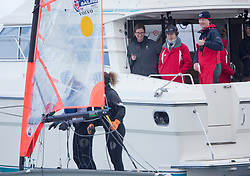 The annual RYA Youth National Championships is the UK's premier youth racing event. Perfect conditions for the fourth days racing.<br /> <br /> The Princess Royal, President of the RYA, visited the event to watch the racing on Largs Channel today.<br /> <br /> Images: Marc Turner / RYA<br /> <br /> For further information contact:<br /> <br /> Richard Aspland, <br /> RYA Racing Communications Officer (on site)<br /> E: richard.aspland@rya.org.uk<br /> m: 07469 854599