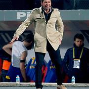 MKE Ankaragucu's coach Hakan Kutlu during their Turkish Superleague soccer match Ankaragucu between Fenerbahce at the 19 Mayis stadium in Ankara Turkey on Sunday 08 January 2012. Photo by TURKPIX