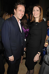PLUM SYKES and her husband TOBY ROWLANDS at the engagement party of Vanessa Neumann and William Cash held at 16 Westbourne Terrace, London W2 on 15th April 2008.<br /><br />NON EXCLUSIVE - WORLD RIGHTS