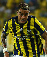 UEFA Europa league Playoff first leg match between Fenerbahce and Grasshoppers at Ulker Stadium in Istanbul on August 18 , 2016.<br /> Final Score : Fenerbahce 3 - Grasshoppers 0<br /> Pictured: Gregory van der Wiel of Fenerbahce .