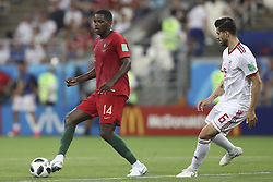 June 25, 2018 - Na - Saransk, 06/25/2018 - The national team of Portugal faced Iran today in the Group B match in the final round of the 2018 World Cup in Mordovia Arena. Gonçalo Guedes and Saeid Ezatolahi  (Credit Image: © Atlantico Press via ZUMA Wire)