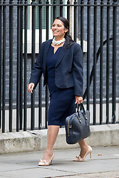 © Licensed to London News Pictures. 21/09/2017. London, UK. International Development Secretary Priti Patel arriving in Downing Street to attend a Cabinet meeting this morning. Photo credit : Tom Nicholson/LNP