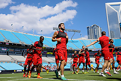 CHARLOTTE, USA - Saturday, July 21, 2018: Liverpool's Adam Lallana during a training session at the Bank of America Stadium ahead of a preseason International Champions Cup match between Borussia Dortmund and Liverpool FC. (Pic by David Rawcliffe/Propaganda)