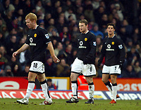 Fotball<br /> Premier League 2004/05<br /> Crystal Palace v Manchester United<br /> 5. mars 2005<br /> Foto: Magne J. Nilsen<br /> NORWAY ONLY<br /> Bad day for Rooney and co as they can only draw at Palace. Paul Scholes foreground, Cristiano Ronaldo background