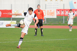 Mario Sacer #77 of Mura 05 during football match between ND Gorica and ND Mura 05 in 20th Round of PrvaLiga NZS 2012/13 on November 24, 2012 in Nova Gorica, Slovenia. (Photo By Ales Cipot / Sportida)