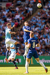 August 5, 2018 - Alvaro Morata of Chelsea and John Stones of Manchester City during the 2018 FA Community Shield match between Chelsea and Manchester City at Wembley Stadium, London, England on 5 August 2018. (Credit Image: © AFP7 via ZUMA Wire)