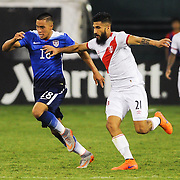 BOBBY WOOD of the USA dribbles upfield during an international friendly between the United States and Peru at RFK Stadium in Washington, DC.
