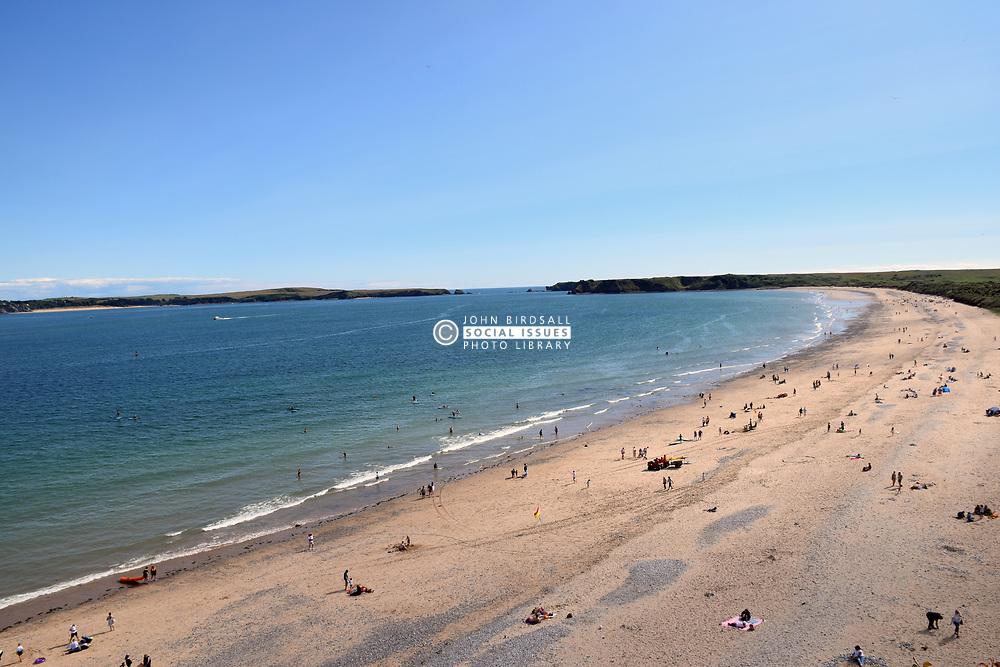 Tenby South Beach, Pembrokeshire South Wales July 2021