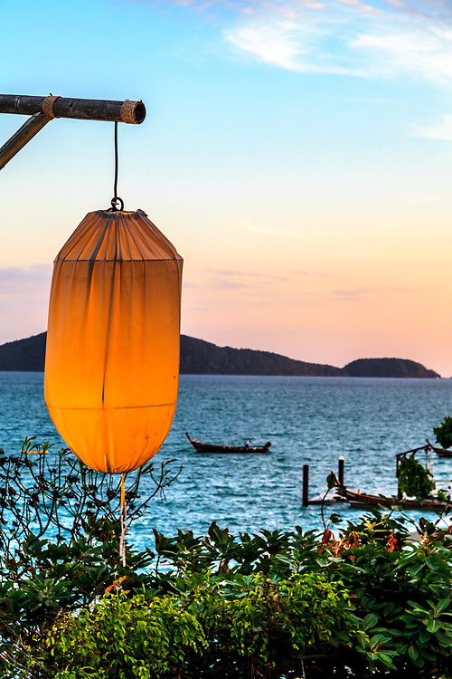 An evening at the Andaman Sea in Thailand.