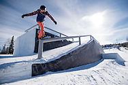 Katie Omerod during Snowboard Slopestyle Practice at the 2016 X Games Aspen in Aspen, CO. ©Brett Wilhelm/ESPN