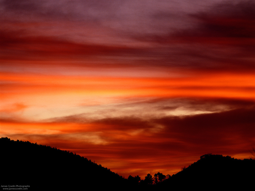 Clouds at sunset in the Huachuca Mountains of southeastern Arizona