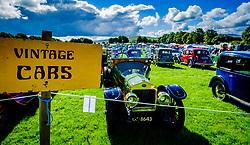 The 44th Biggar Vintage Vehicle Rally held in Biggar on 13th August 2017.  General view of the rally.<br /> <br /> (c) Andrew Wilson   Edinburgh Elite media