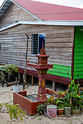 Spirit House. Image of the village of Preak Svay, Koh Rong Island, Cambodia.