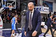 Maurizio Buscaglia<br /> Banco di Sardegna Dinamo Sassari - Dolomiti Energia Aquila Basket Trento<br /> LegaBasket Serie A 2016/2017<br /> Sassari 10/12/2016<br /> Foto Ciamillo-Castoria