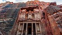 The Treasury (Al-Khazneh), Petra Archaeological Park (a UNESCO World Heritage Site), Petra, Jordan.