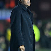 Trabzonspor's coach Senol GUNES during their UEFA Champions League group stage matchday 4 soccer match Trabzonspor between CSKA Moskva at the Avni Aker Stadium at Trabzon Turkey on Wednesday, 02 November 2011. Photo by TURKPIX