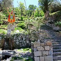 South America, Bolivia, Sun Island. Incan Steps of Isla del Sol.