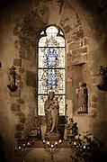 Chapel alter, Mont Saint-Michel, Normandy, France