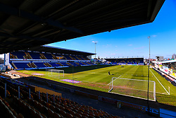 A general view of the One Call Stadium - Mandatory by-line: Ryan Crockett/JMP - 27/02/2021 - FOOTBALL - One Call Stadium - Mansfield, England - Mansfield Town v Morecambe - Sky Bet League Two