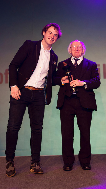 """report free. TG4, the Irish language television station, was presented with the Lifetime Achievement Award by President Michael D. Higgins at the Oireachtas Media Awards. Other winners on the night included Bláthnaid Ní Chofaigh for her weekly RTÉ Raidió na Gaeltachta show 'Bláthnaid Libh', Stíofán Ó Fearail, from Gaeltacht band Seo Linn and Alan Titley, Irish Times columnist.<br /> Best Radio Broadcaster went to Raidio na Gaeltachta's Rónán Mac Aodha Bhuí whilst Síle Nic Chonaonaigh took home the award for Best Television Broadcaster. Galway's Tara Breathnach won Best Actor for her role as the mother of an autistic boy in Maidhm.<br /> The annual awards, which took place in the Salthill Hotel, Galway, celebrate achievement and excellence in the Irish language media sector and honour actors, journalists, presenters, programme makers and others who have excelled in their contributions in the last year. A new category for Best Short Film was introduced this year and was won by Meangadh Fíbín for their film Snámh in aghaidh Easa.<br /> """"It's a huge honour to have the President present the awards, particularly as TG4 celebrates its 20th anniversary this year"""" said Liam Ó Maolaodha, Director of an tOireachtas. """"President Higgins played an integral part in the founding of the station and has always been an advocate for both Irish language media and the arts. These awards are one of the highlights of the Irish language media sector's calendar and reflect and celebrate the thriving industry that it's become,"""" he added.<br /> Independent filmmakers Magamedia took home the award for Best Television Series for EIPIC as well as Best Television Programme for Deoch an Dorais. The documentary tells the true story of Irishman Mike Malloy whosurvived over 20 attempts on his life in depression-era New York.<br /> Photos caption:<br /> Pictured at the Oireachtas Media Awards in the Salthill Hotel Galway was  Stíofán Ó Fearail, from Gaeltacht band Seo Linn receiving his award fr"""