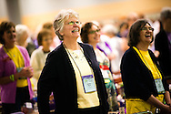Martha Moyer participates in the 36th Biennial Convention of the Lutheran Women's Missionary League on Friday, June 26, 2015, at the Iowa Events Center in Des Moines, Iowa. LCMS Communications/Erik M. Lunsford
