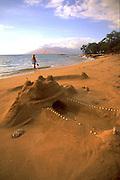 Sand Castle, Wailea, Wailea Beach, Maui, Hawaii, USA<br />