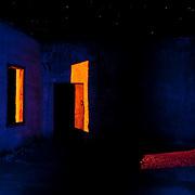 Light painting at Rhyolite jail.
