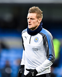 January 13, 2018 - London, England, United Kingdom - Leicester City's Jamie Vardy during the pre-match warm-up  ..during the Premier League match between Chelsea and Leicester City at Stamford Bridge, London, England on 13 Jan t 2018. (Credit Image: © Kieran Galvin/NurPhoto via ZUMA Press)