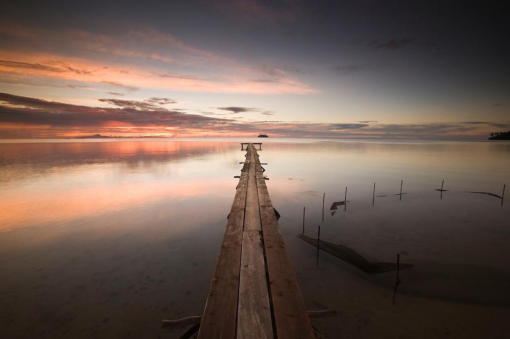 Raiatea, French Polynesia, Atiapiti, Opua, sunset