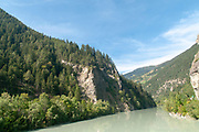 The gorge of the Inn River at Prutz, Tyrol, Austria