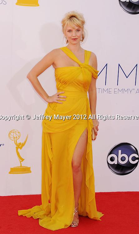 LOS ANGELES, CA - SEPTEMBER 23: Kelli Garner arrives at the 64th Primetime Emmy Awards at Nokia Theatre L.A. Live on September 23, 2012 in Los Angeles, California.